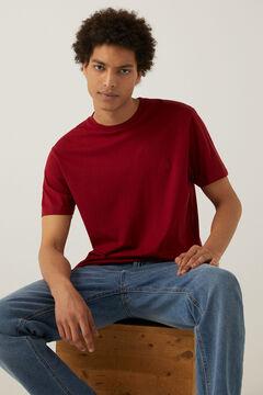 Springfield T-shirt básica logo vermelho real