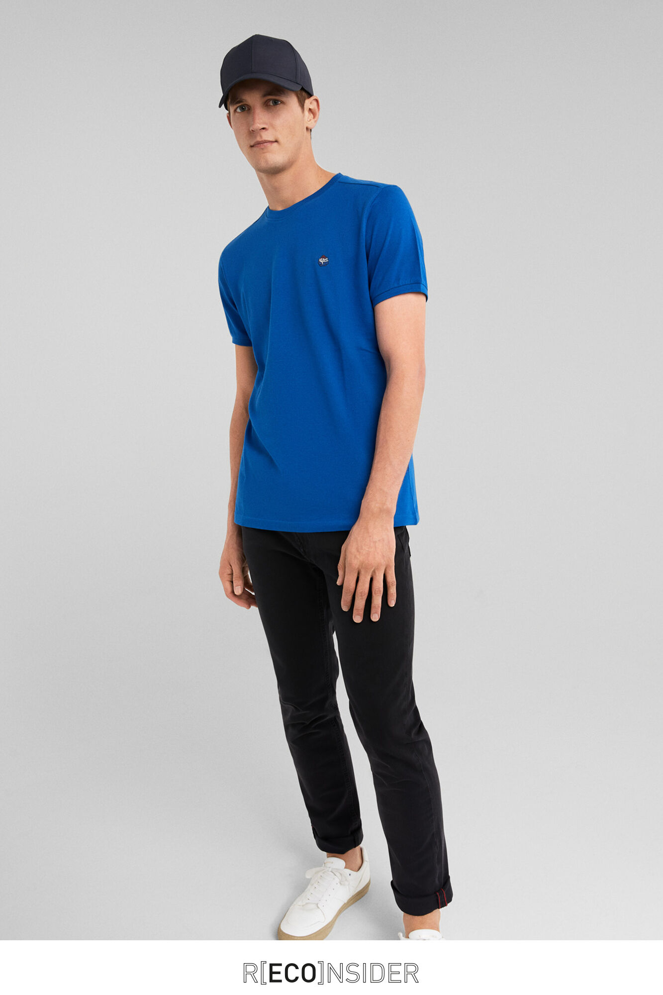 Indigo Logo Azul Springfield Camiseta Bordado qxPY7nwIa0