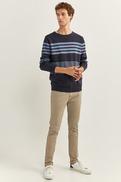 Springfield SAILOR STRIPES MELANGE JUMPER blue