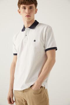Springfield Kontrasztos piké póló fehér
