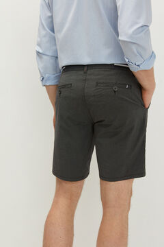 Springfield Two-tone textured Bermuda shorts grey mix