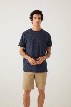 Springfield T-shirt estampagem étnica marinho mistura