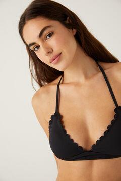 Springfield Scalloped bikini top black