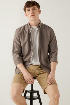 Springfield Pinpoint shirt brown
