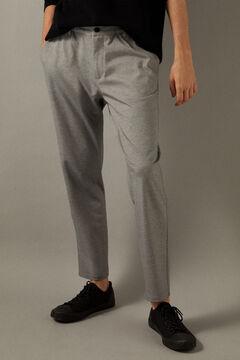 Springfield Pantalon chino urban knit mélange demi gris