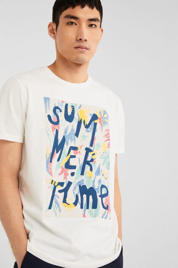 042f8b5ec44b Springfield Short-sleeved Summertime t-shirt ecru