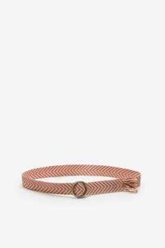Springfield Cinturón tejido flecos rosa