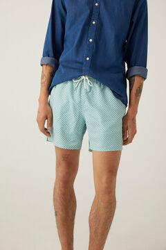 Springfield Zipped pocket printed swimming shorts violet