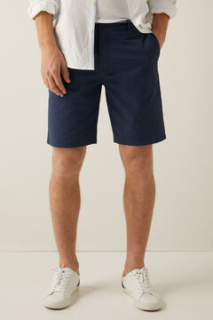Springfield Elastic Chino-style Bermuda shorts blue