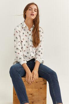 Springfield Printed blouse ecru