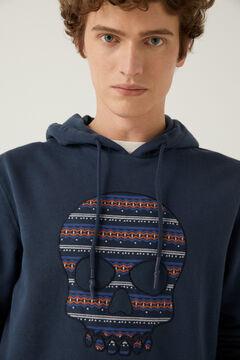 Springfield Sweat-shirt capuche tête de mort bleuté