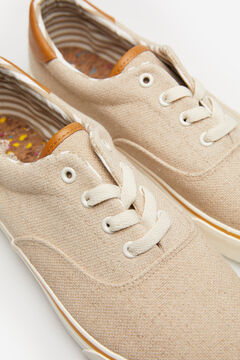 Springfield Rugged fabric sneaker natural