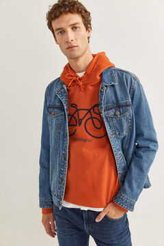 Springfield SWEAT-SHIRT CAPUCHE BICYCLETTE terracotta