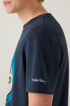 Springfield T-shirt Keith Haring azulado