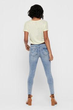 Springfield High rise cigarette jeans bluish