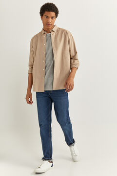 Springfield OXFORD SHIRT beige