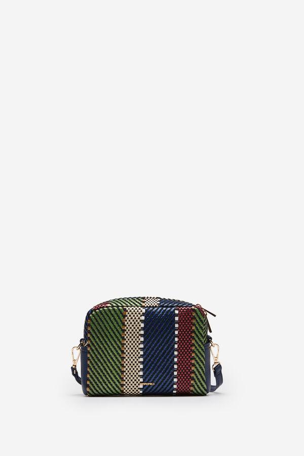 3e21d7a715 Springfield Sling bag multicoloured woven raffia green