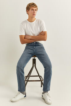Springfield GREY MEDIUM WASH SLIM JEANS blue