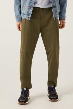 Springfield Pleated chinos dark gray