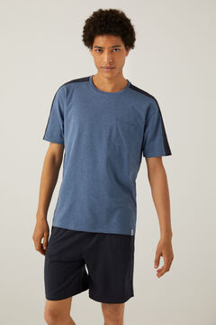 Springfield Short lightweight jersey-knit pyjamas blue