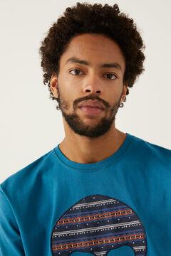 Springfield T-shirt caveira malva