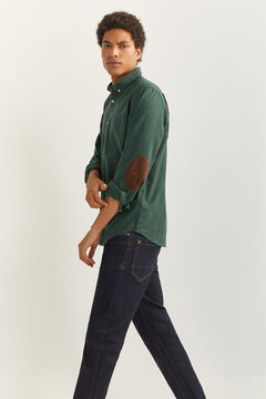 Springfield Camisa twill verde oscuro