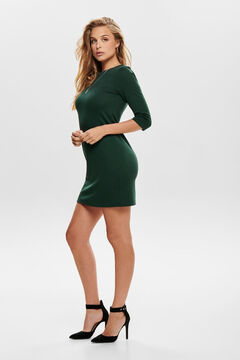 Springfield 3/4-length sleeve back zip jumper dress green