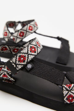 Springfield Jacquard straps trekking sandal black