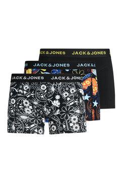 Springfield Pack de 3 boxers com estampado de caveiras preto