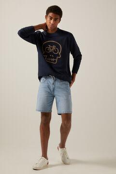 Springfield Skull sweatshirt blue