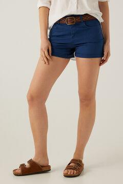 Springfield Short jean couleur bleu acier