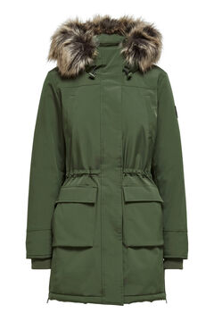 Springfield Parka with fur hood green