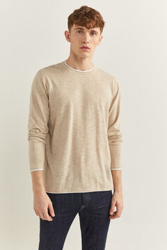 Springfield Linen cotton layered jumper camel