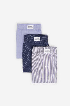 Springfield 3-PACK MOON WOVEN BOXERS blue