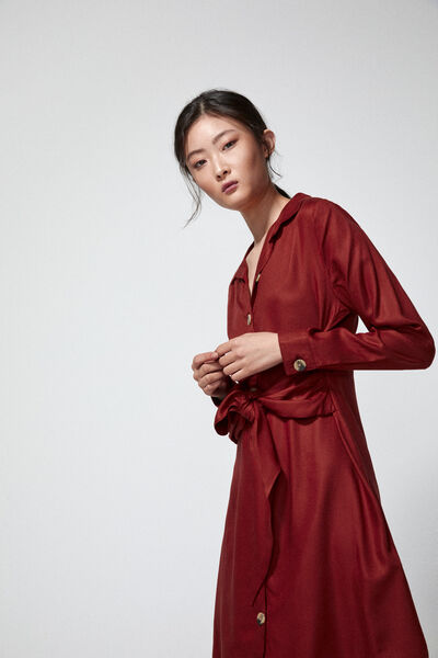 Springfield - Knot shirt dress - 3