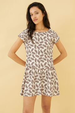 Springfield Printed skater dress grey