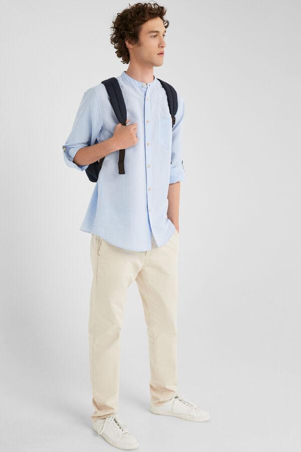 d99f22f804a33 Springfield Camisa lino azul
