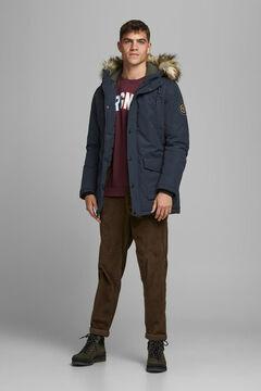 Springfield Parka with fur hood marineblau