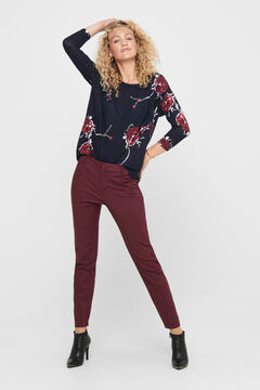 Springfield Printed 3/4-length sleeve blouse blue