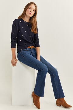 Springfield Embroidered Floral Jumper blue