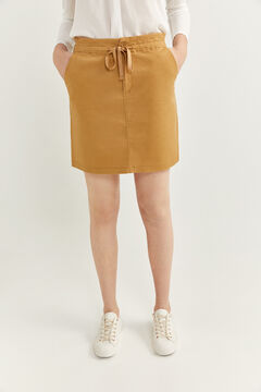 Springfield Chino skirt with elasticated waist stone