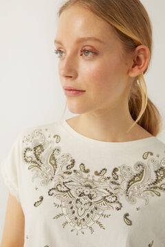 Springfield Floral paisley relief t-shirt grey