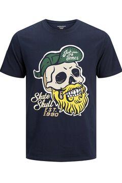 Springfield Camiseta estampada sostenible marino