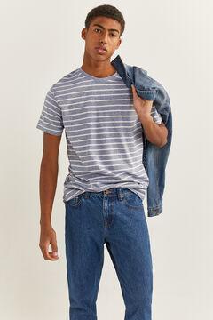 Springfield T-shirt microriscas mix azul