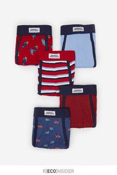 Springfield Pack 5 boxers espaço vermelho real