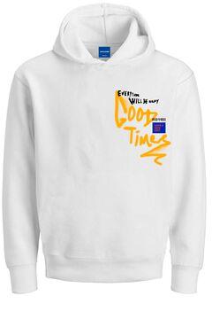 Springfield Printed hoodie white