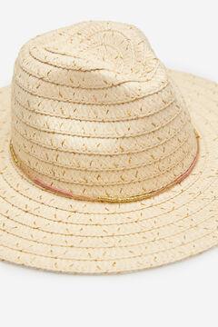Springfield Sombrero rafia detalles dorados crudo