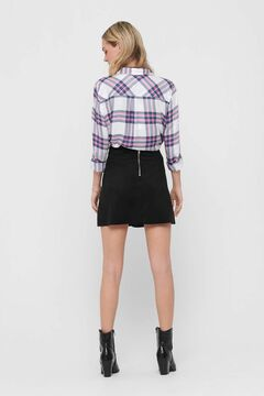 Springfield Leather skirt back zip black