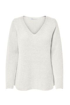 Springfield Loose fit knit jumper white