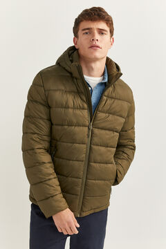 Springfield QUILTED JACKET WITH DUPONT™ SORONA® PADDING AND REMOVABLE HOOD dark gray